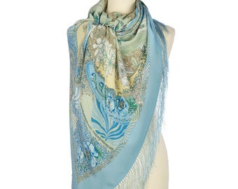 Pavlovo Posad russian shawl 100% silk