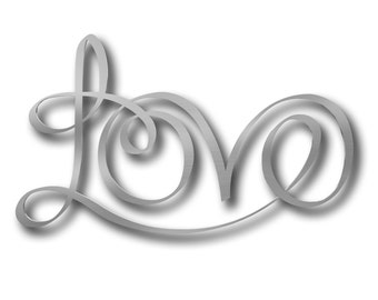 Love Large Metal Wall Art Love Wall Decor Modern Metal Art Love Sign
