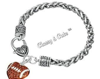 Football Heart Bracelet