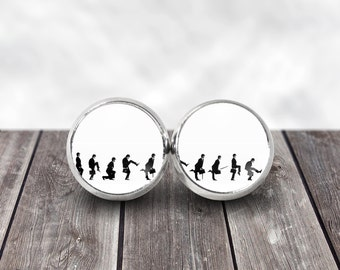 Monty Python Earrings, 12mm Stud Earrings, Silly Walks, British Comedy, Geek Fashion