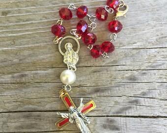 Red pocket rosary