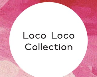"""Handmade statement stud earrings // gifts for her // """"Loco loco"""""""