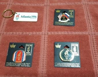 1996 Olympics Atlanta, GA Keyring and Pin set