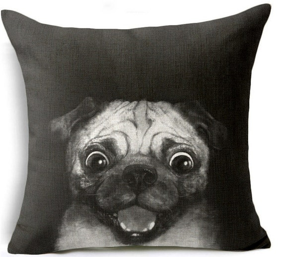 Pug Pillow, Dog Pillow, Pillow Case, Pug, Pug Picture, Dog