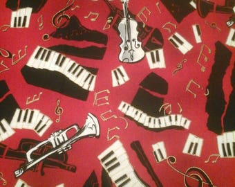 Robert Kaufman Music  Fabric  1 Yard Cotton