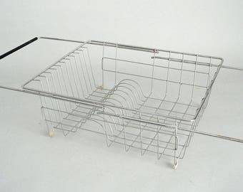 Stainless Dish Drainer Rack With Expansion Arms