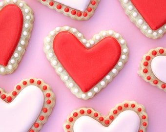 Scalloped Heart Sugar Cookies