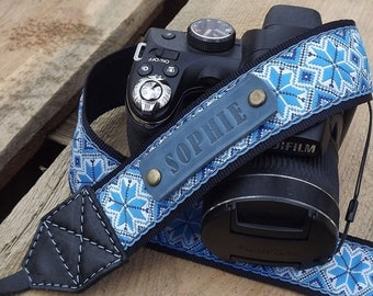 Leather Camera Strap Personalized camera strap leather, Gift for Photographer/Canon camera strap/Nikon camera strap