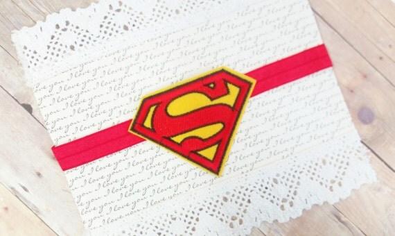 Superman Headband, Super Hero Headband, Red Headband, Supergirl Headband, Custome Headband,  Supergirl Accesories, Red Headband