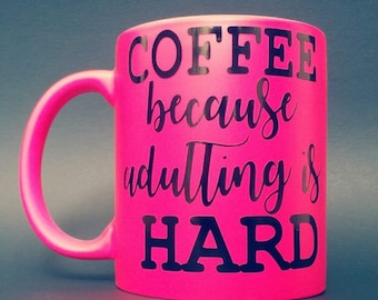 Pink coffee cup,cute cup,coffee,word cups