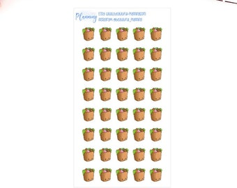 Grocery Shopping Planner Stickers, Food Shopping, Kawaii Shopping, Food, Fruit, Veg, for use in ERIN CONDREN LIFEPLANNER ™, Happy Planner.