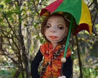 Handmade Doll- Teresa -58cm (WO 16'16) - textile doll- fabric doll- rag doll- home decoration- handmade toy-cloth dolls-fabric dolls