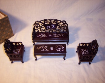 Lovely Miniature dragon furniture from the Smithsonian Instution
