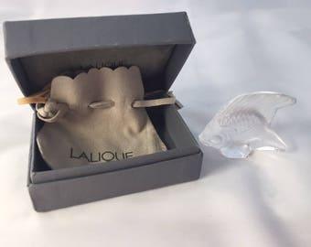 Lalique Clear Fish Sculpture