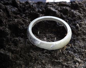 Concrete & Silver Bangle | Concrete and Silver Bracelet | Concrete Bangle | Concrete Bracelet