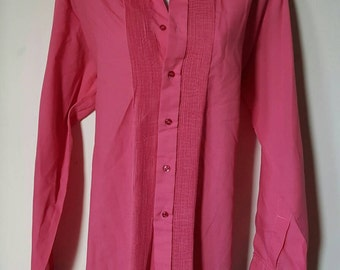 Lovely 70s Jaytex of London shirt blouse in deep dusty pink