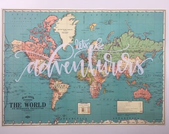 Vintage style map etsy gumiabroncs Gallery