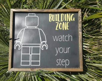 Building zone lego sign