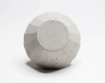 Concrete Round Frustum Cabinet Knob or Wall Hook Natural Grey or White Gloss