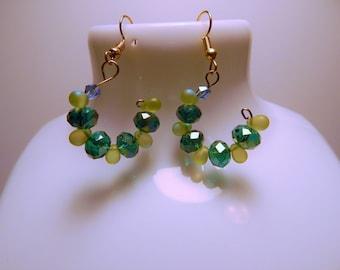 Small Open end, hoop earrings