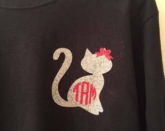 Cat with Monogram