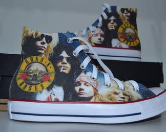 Guns n Roses custom converse / custom shoes