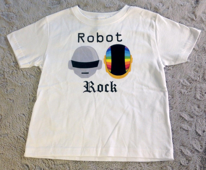Daft Punk Inspired Robot Rock Toddler White T Shirt Clothing