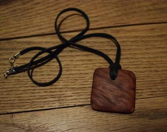Red Mallee Burl Pendant