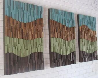 SALE! Wall art-wood wall art- landscape abstract- organic - large wood wall art -reclaimed wood wall art-wood art-