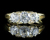 Antique Victorian Diamond Ring 2ct Trilogy Circa 1880