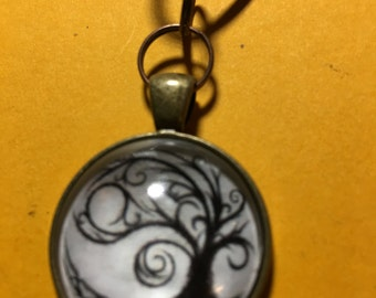 Tree of life glass pendant or keychain