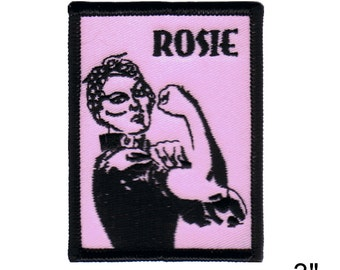 "Rosie The Riveter Iron On Patch 3"" x 2 1/2"" Free Shipping by Dave Cherry 2719"
