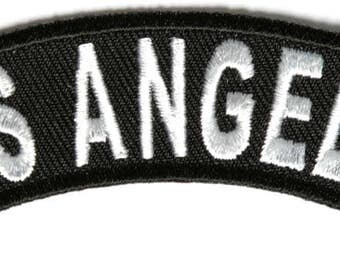 Los Angeles Rocker Iron On Patch - 4 x 1 inch Free Shipping Biker Veteran Military Biker P3617