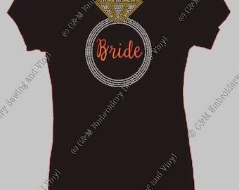 Bride Rhinestone Ladies T-Shirt, Personalized T-Shirt, Women's T-shirt,  Ladies Tee