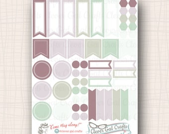 2017 InkWELL Press Planner Stickers | Sensible Shapes Sampler | 54 Stickers Total | #SS31IWP2