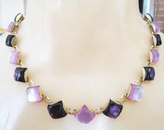 Thermoset Light & Dark Purple Necklace