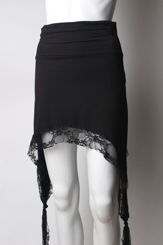 Short Black Lace Skirt - Dress Ala