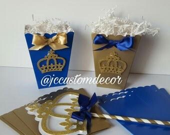 Royal Prince Baby Shower Favor Box-Royal Prince Favor Box-Royal Prince Baby Shower Favor Box-Royal Prince Birthday Favor Box-Royal Prince