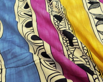 "Indian Dressmaking Fabric, Apparel Fabric Material Multicolor Cotton Material 41"" Wide Dressmaking Fabric Sewing Crafting By 1 Yard ZBC6769"