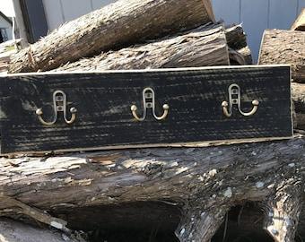 Ready to ship! Recalimed wood wall hooks - coat rack
