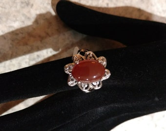CLEARANCE *Carnelian Ring Size 7