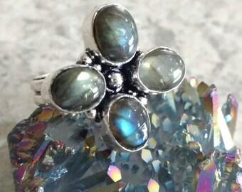 Beautiful Labradorite Ring, Size 7