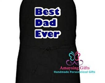 Apron - Best Dad Apron - Best Dad Ever - Best Dad Apron - Father's Day Gift - Fathers Day - Kitchen Apron -  Men's Apron - Aprons For Dad