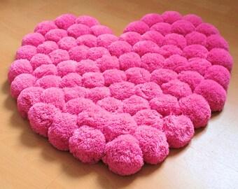 flower area rug colorful bedroom rug pom pom area by. Black Bedroom Furniture Sets. Home Design Ideas