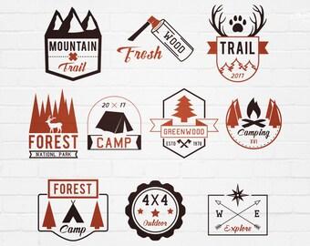 Outdoor Adventures Badges Logos