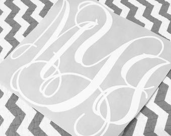 Monogram Decal/yeti/orca/laptop/computer/car/notebook/phone case/cooler/rtic/sic