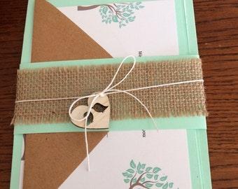 Mint green Invitation