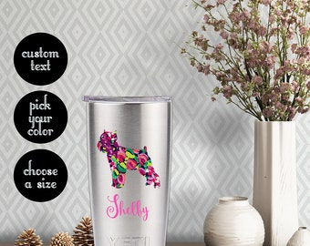 Brussels Griffon Patterned Decal with Customizeable Text