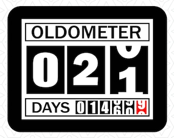 Oldometer Decal Design 21, SVG, DXF, EPS Vector files for use with Cricut or Silhouette Vinyl Cutting Machines