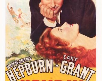 Holiday Katharine Hepburn Cary Grant  Rare Vintage Poster